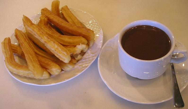 Amigos del chocolate: churros