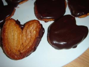 Palmeras de hojaldre con chocolate